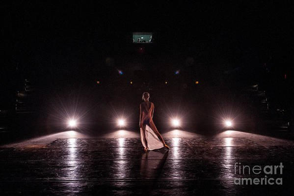 Performance Print featuring the photograph Solo Dance Performance by Scott Sawyer