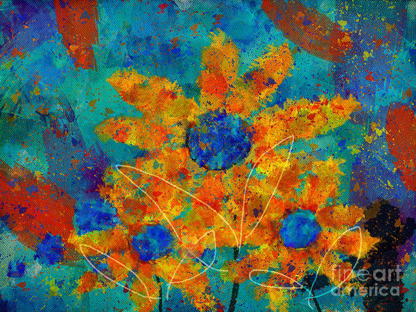 Painting Print featuring the digital art Stimuli Floral -s01t01 by Variance Collections