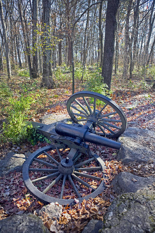 Usa Print featuring the photograph Stones River Battlefield by Luc Novovitch