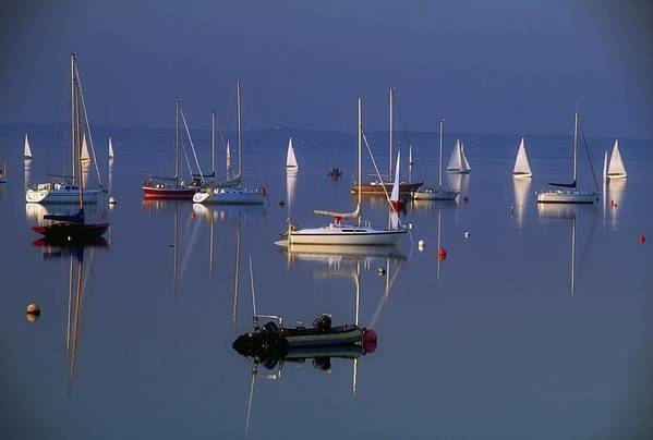 Peaceful Print featuring the photograph Strangford Lough, Co Down, Ireland by Sici
