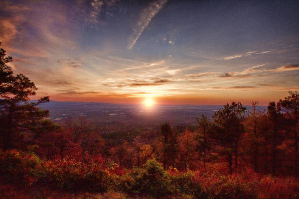 Sunrise Print featuring the photograph Sunrise-talimena Scenic Drive Arkansas by Douglas Barnard