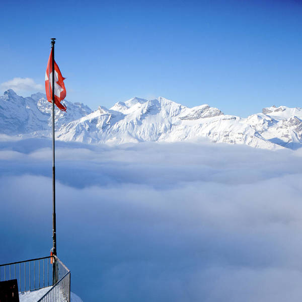 Square Print featuring the photograph Swiss Alps Panorama by Image by Christian Senger