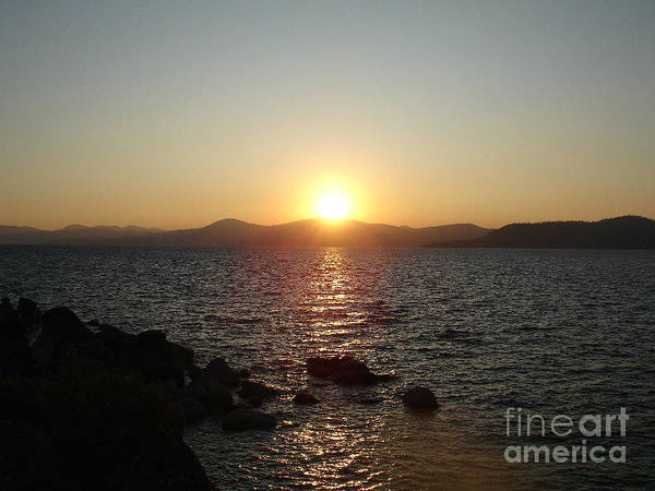 Sunset Print featuring the photograph Tahoe Sunset by Silvie Kendall