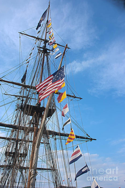 Tall Ships Print featuring the photograph Tall Ships Banners by David Bearden