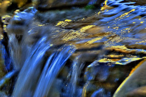 Waterfall Print featuring the photograph Taylor Waterfall by David Clark