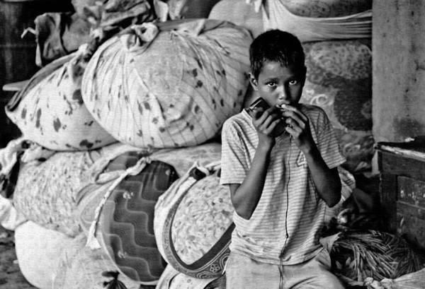Male Print featuring the photograph Technology In Sweatshop by Kantilal Patel