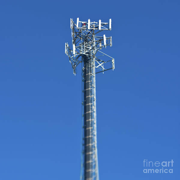 Architectural Detail Print featuring the photograph Telecommunications Tower by Eddy Joaquim