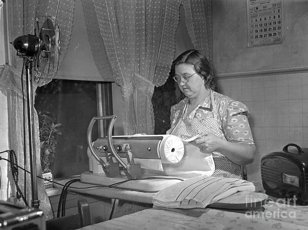 1942 Print featuring the photograph Tennessee: Farm Wife, 1942 by Granger