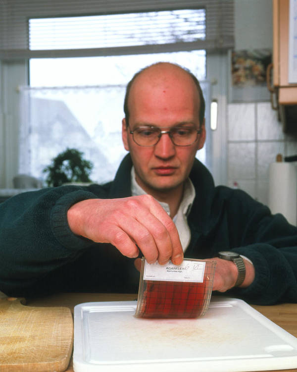 Bacteriology Print featuring the photograph Testing For Bacteria by Volker Steger