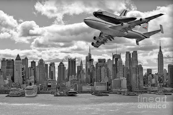 Space Shutle Enterprise Print featuring the photograph Thanks For The Show by Susan Candelario