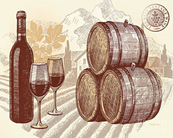 The Best Vintage Wine Print featuring the photograph The Best Vintage Wine by Cheryl Young