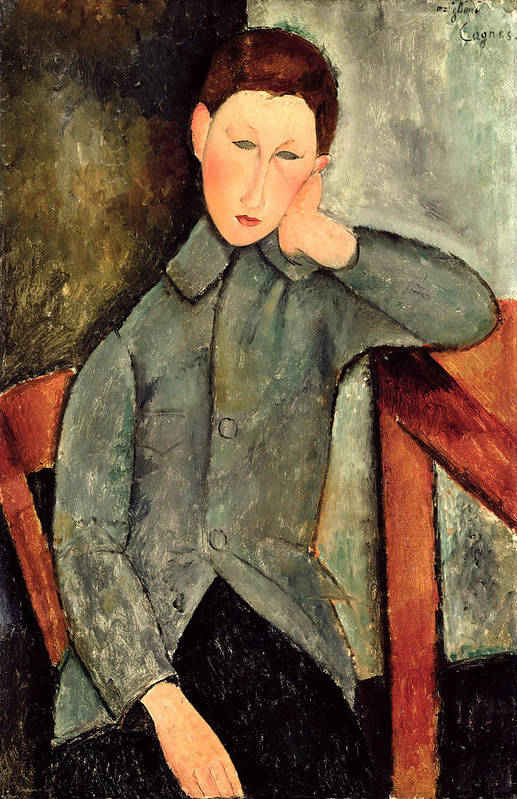 Male Print featuring the painting The Boy by Amedeo Modigliani