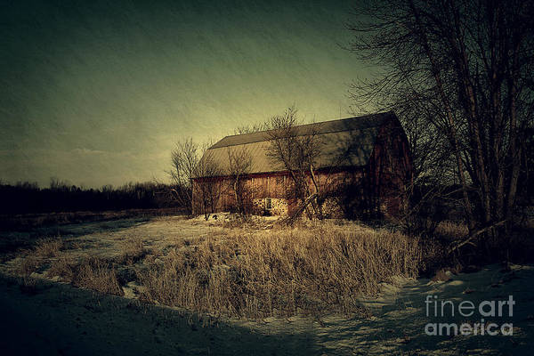 Barn Print featuring the photograph The Hiding Barn by Joel Witmeyer