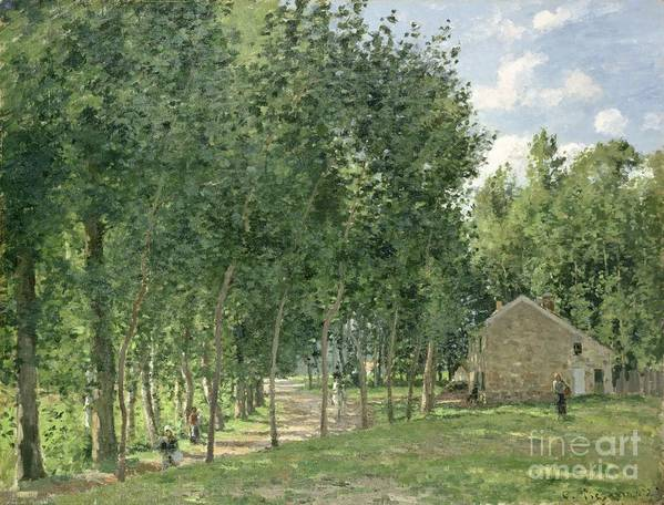 The House In The Forest Print featuring the painting The House In The Forest by Camille Pissarro