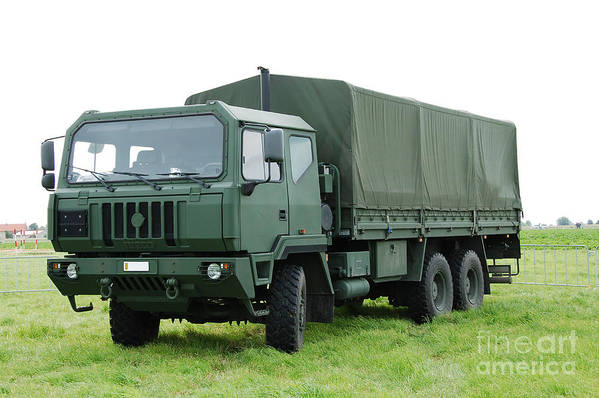 6x6 Print featuring the photograph The Iveco M250 Used By The Belgian Army by Luc De Jaeger