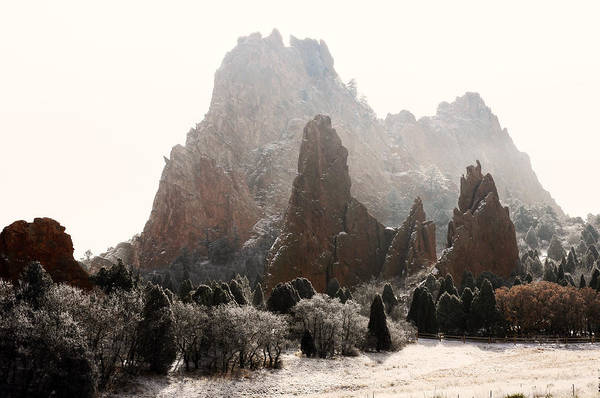 Garden Of The Gods Print featuring the photograph The Morning After by The Forests Edge Photography - Diane Sandoval
