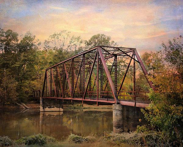 Autumn Print featuring the photograph The Old Iron Bridge by Jai Johnson