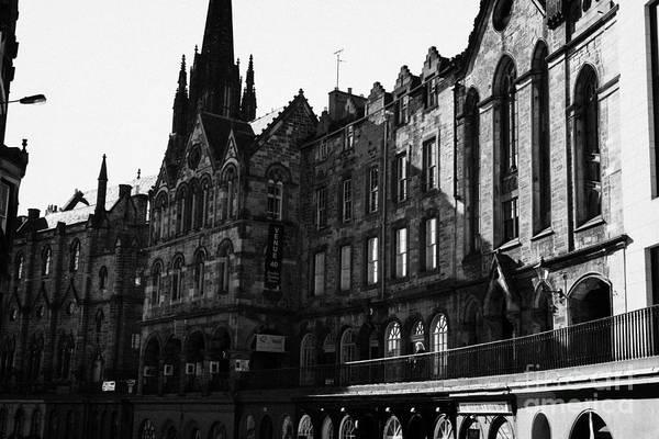 The Quaker Meeting House On Victoria Street Edinburgh Scotland Uk United Kingdom Print by Joe Fox