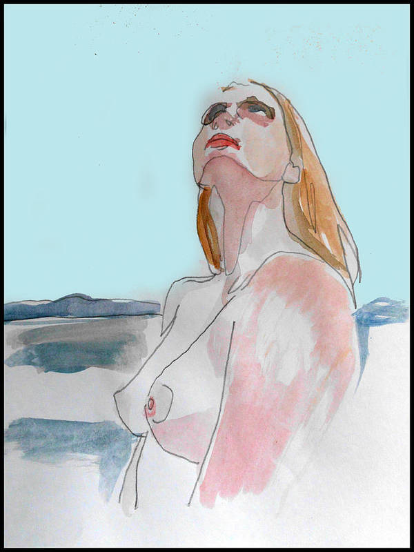 Figure Print featuring the mixed media The Way You See It by Adam Kissel