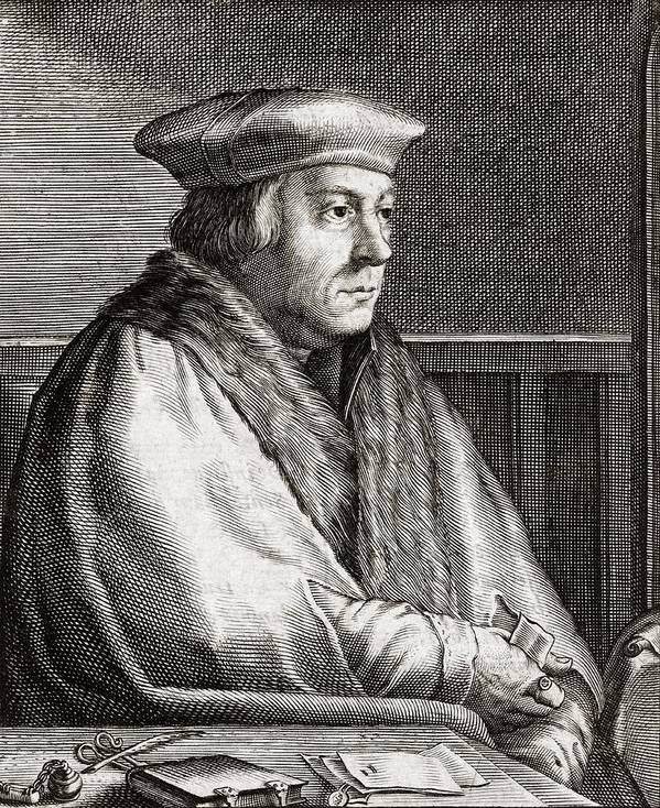Thomas Print featuring the photograph Thomas Cromwell, English Statesman by Middle Temple Library