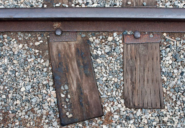 Railroad Print featuring the photograph Ties by Dan Holm