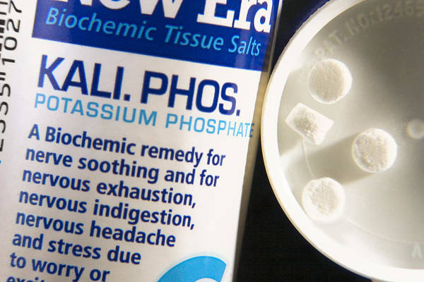 Tissue Salt Print featuring the photograph Tissue Salts Homeopathic Remedy by Sheila Terry