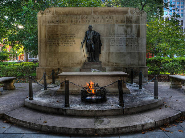 Lee Dos Santos Print featuring the photograph Tomb Of The Unknown Revolutionary War Soldier II - George Washington by Lee Dos Santos