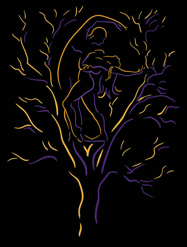Abstract Tree Print featuring the painting Tree Dancers by Shane Robinson