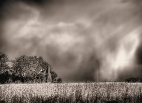 Fauquier County Virginia Print featuring the photograph Trouble Brewing Bw by JC Findley