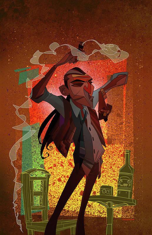 Gypsy Print featuring the digital art Un Hombre by Nelson Dedos Garcia