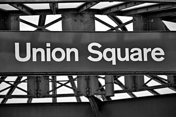 Union Square Print featuring the photograph Union Square by Susan Candelario
