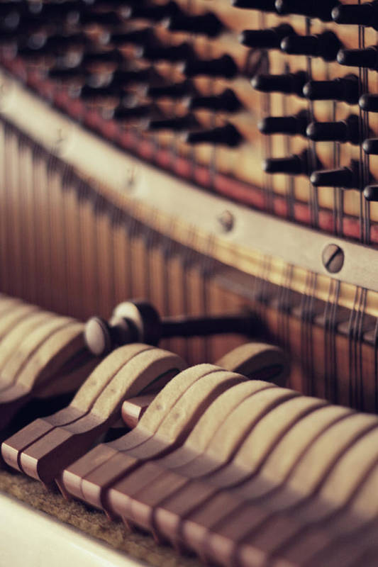 Vertical Print featuring the photograph Vertical Piano by Isabelle Lafrance Photography