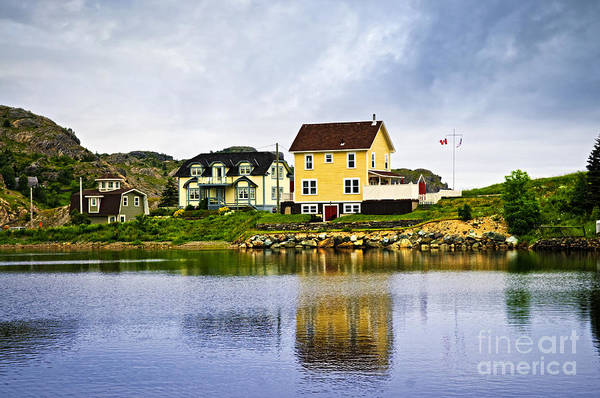 Fishing Print featuring the photograph Village In Newfoundland by Elena Elisseeva