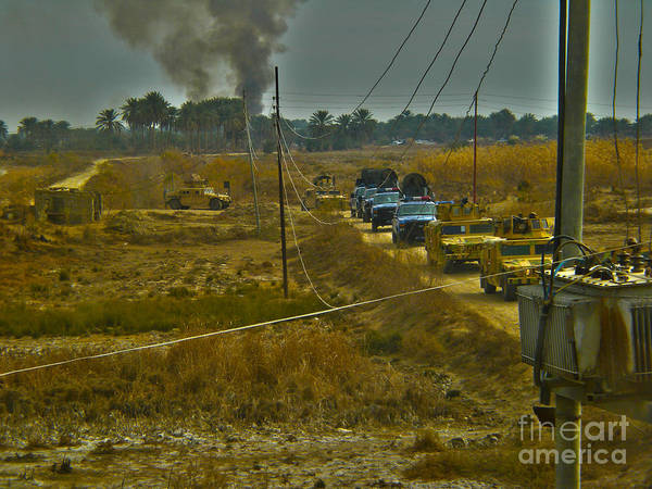 Smoke Print featuring the photograph War Hummers by Joanne Kocwin