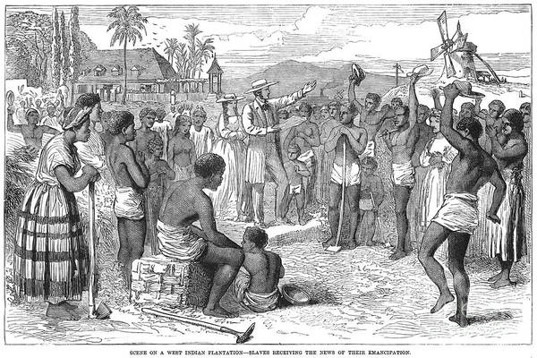 1833 Print featuring the photograph West Indies: Emancipation by Granger
