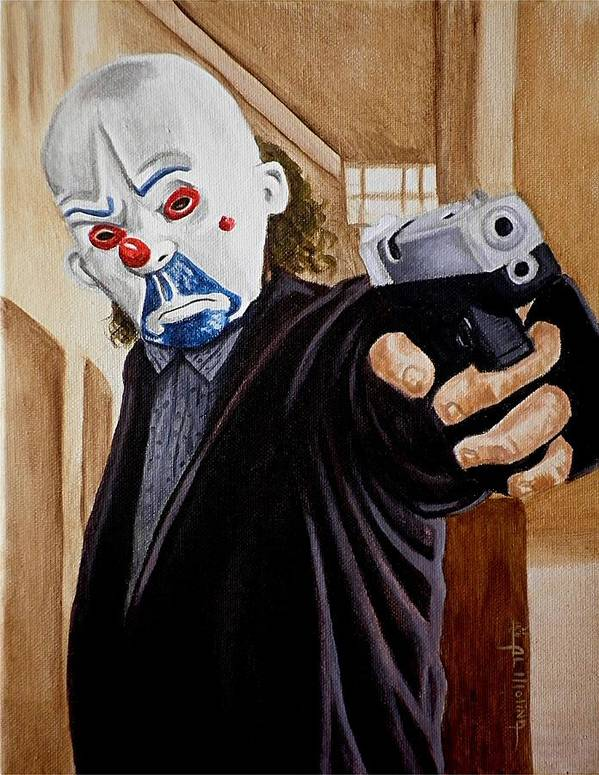 Joker Print featuring the painting Whatever Doesn't Kill You Simply Makes You Stranger by Al Molina