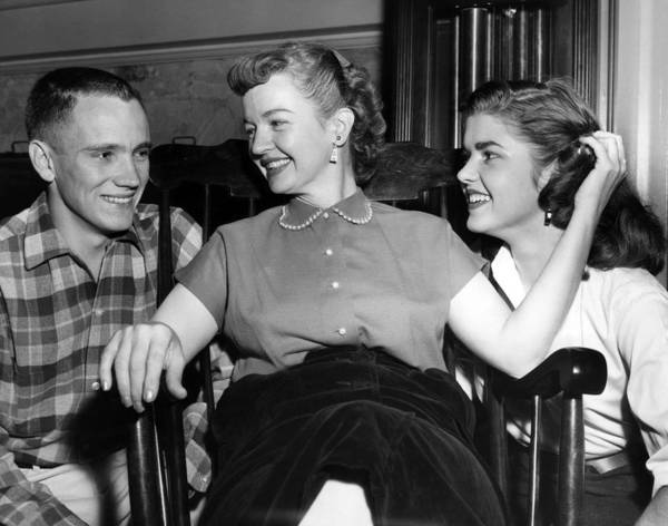 1950s Candids Print featuring the photograph William Rose Left, Fiance Of Cheryl by Everett