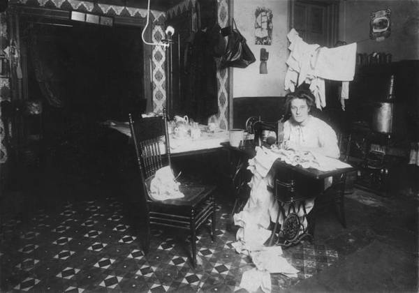 1910s Print featuring the photograph Woman Working In Basement, From Caption by Everett