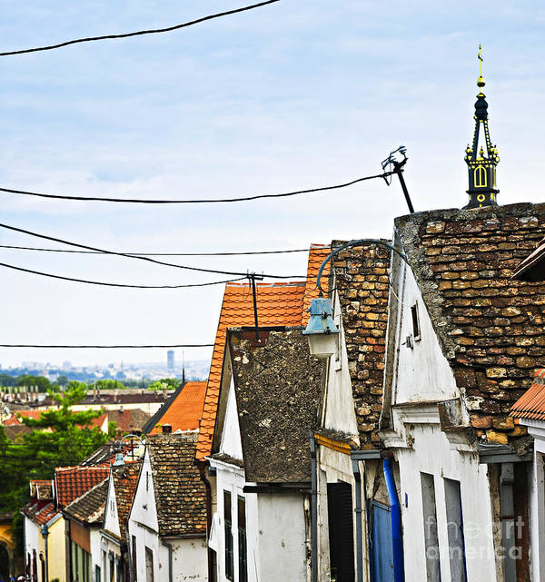 Roofs Print featuring the photograph Zemun Rooftops In Belgrade by Elena Elisseeva