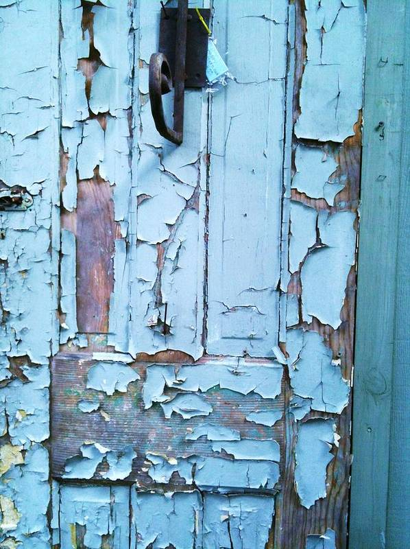 Haint Blue Door Print featuring the photograph Blue Door In The Old South by Shawn Hughes