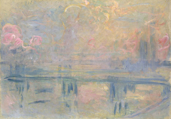 Impressionist Print featuring the painting Charing Cross Bridge by Claude Monet