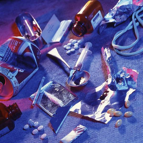 Drugs Print featuring the photograph Drug Abuse by Tek Image