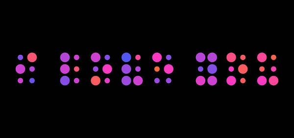 I Love You Print featuring the digital art I Love You - Braille by Michael Tompsett