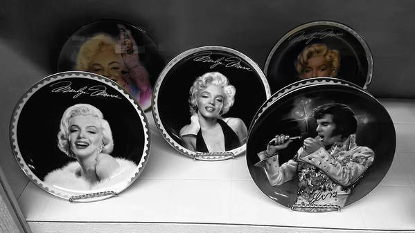 Marilyn Print featuring the photograph Marilyn And Elvis by Daniel Hagerman