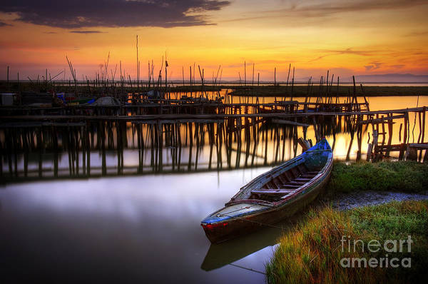 Bay Print featuring the photograph Palaffite Port by Carlos Caetano