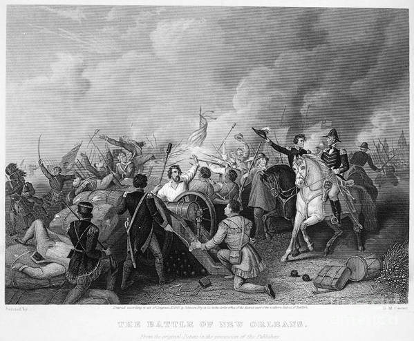1815 Print featuring the photograph Battle Of New Orleans by Granger