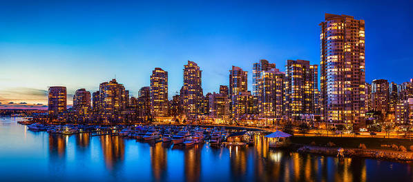Panorama Print featuring the photograph Yaletown From Cambie Bridge by Alexis Birkill