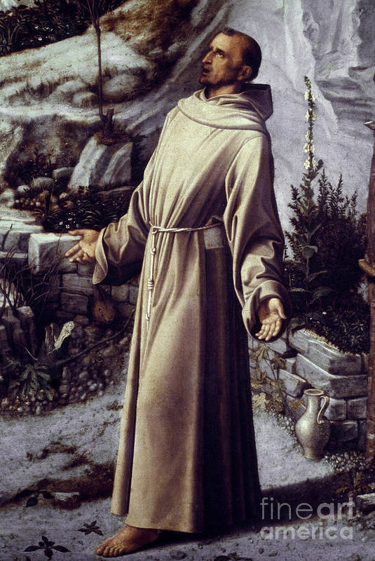 12th Century Print featuring the painting St. Francis Of Assisi by Granger