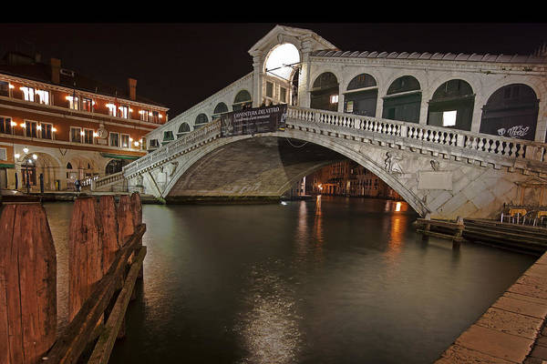 Architecture Print featuring the photograph Venice By Night by Joana Kruse