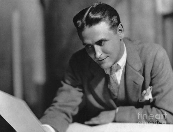 1925 Print featuring the photograph F. Scott Fitzgerald by Granger